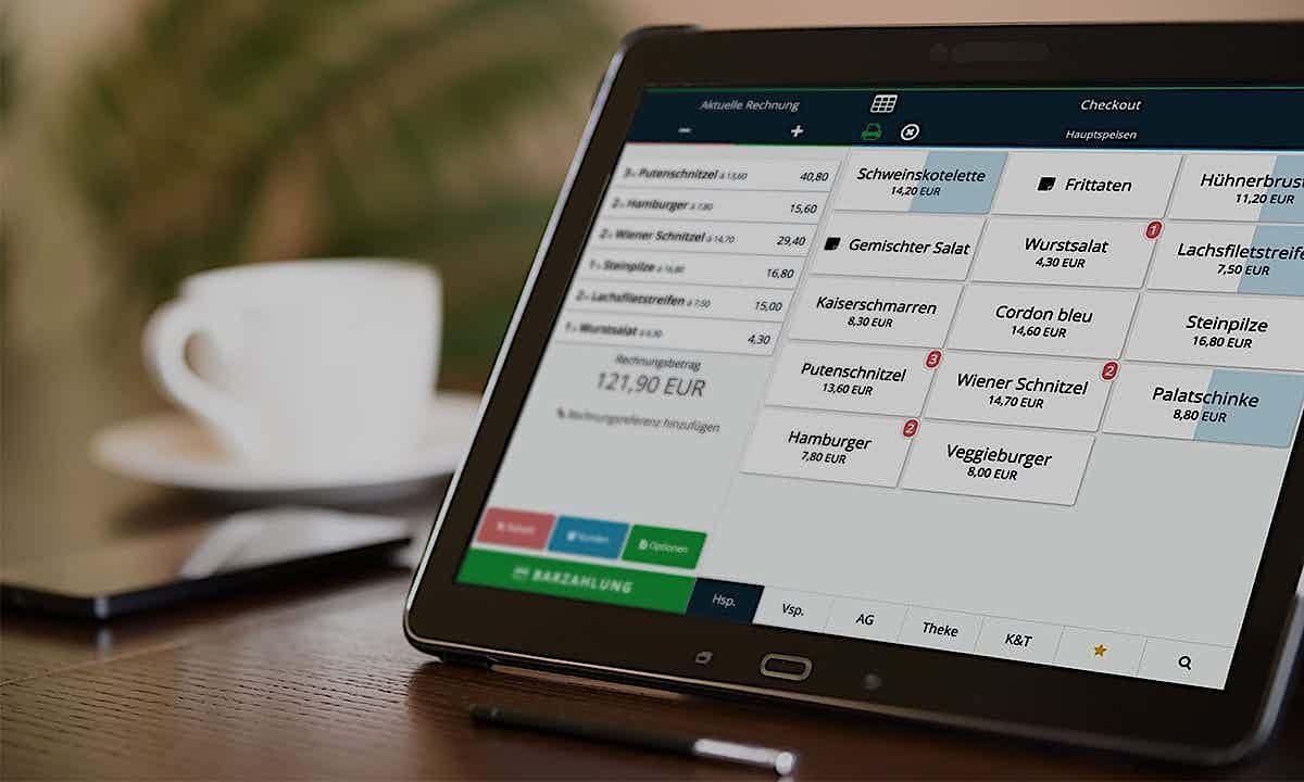 Tablet Registrierkassen Vergleich Samsung iPad