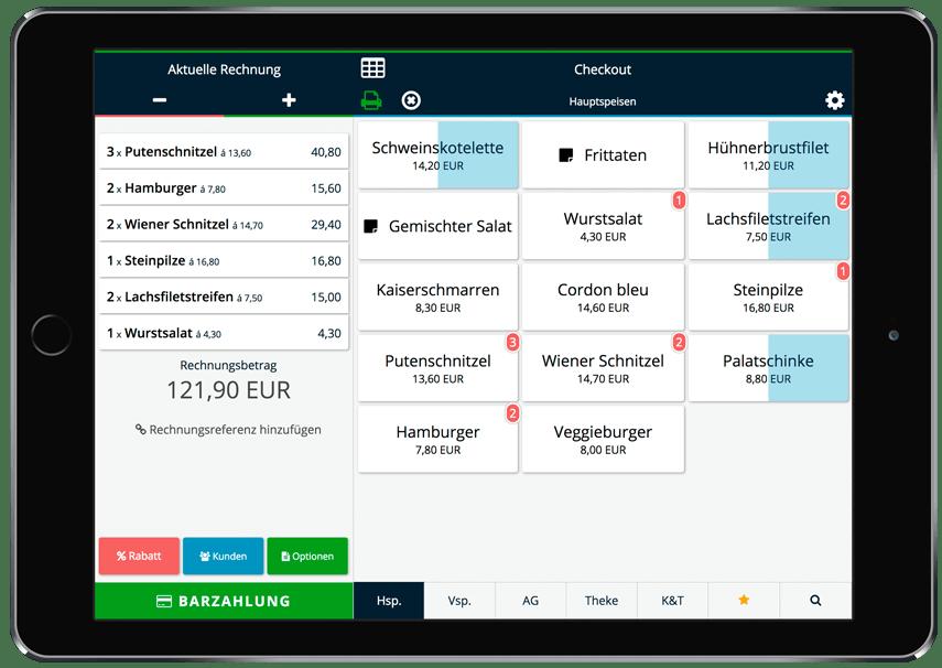 Mobile Registrierkasse auf iPad