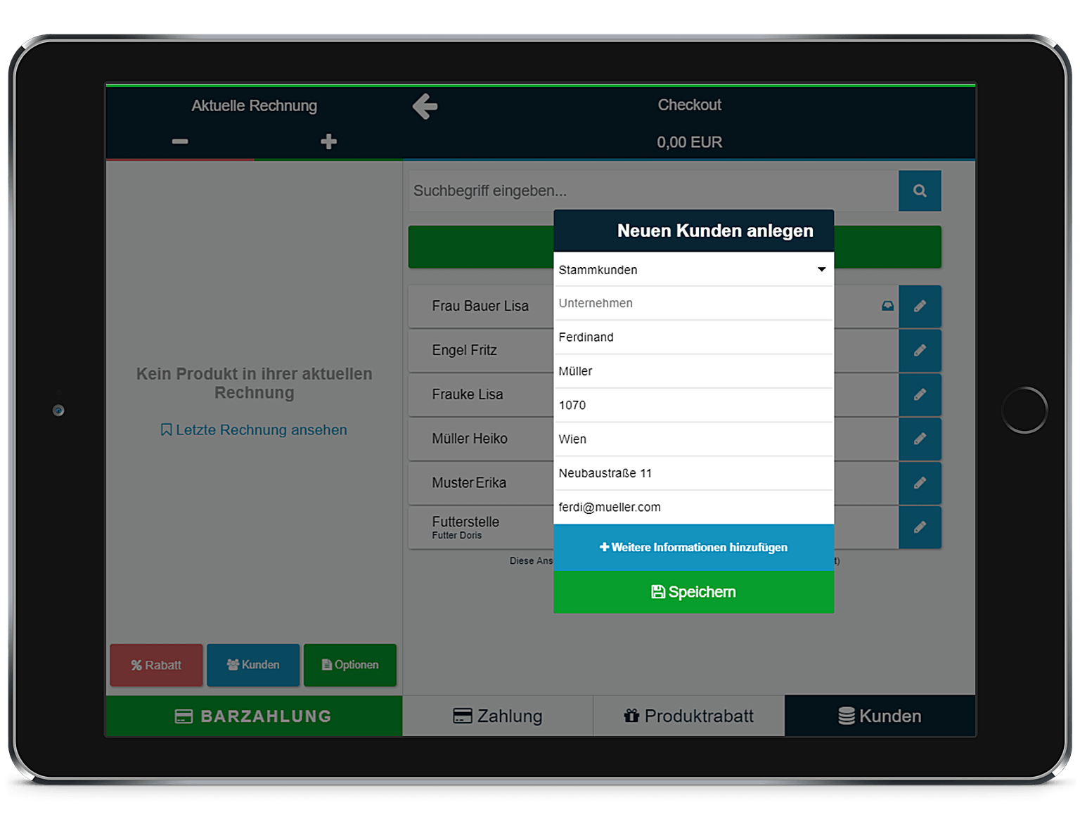 Kundendatenbank anlegen bei ready2order