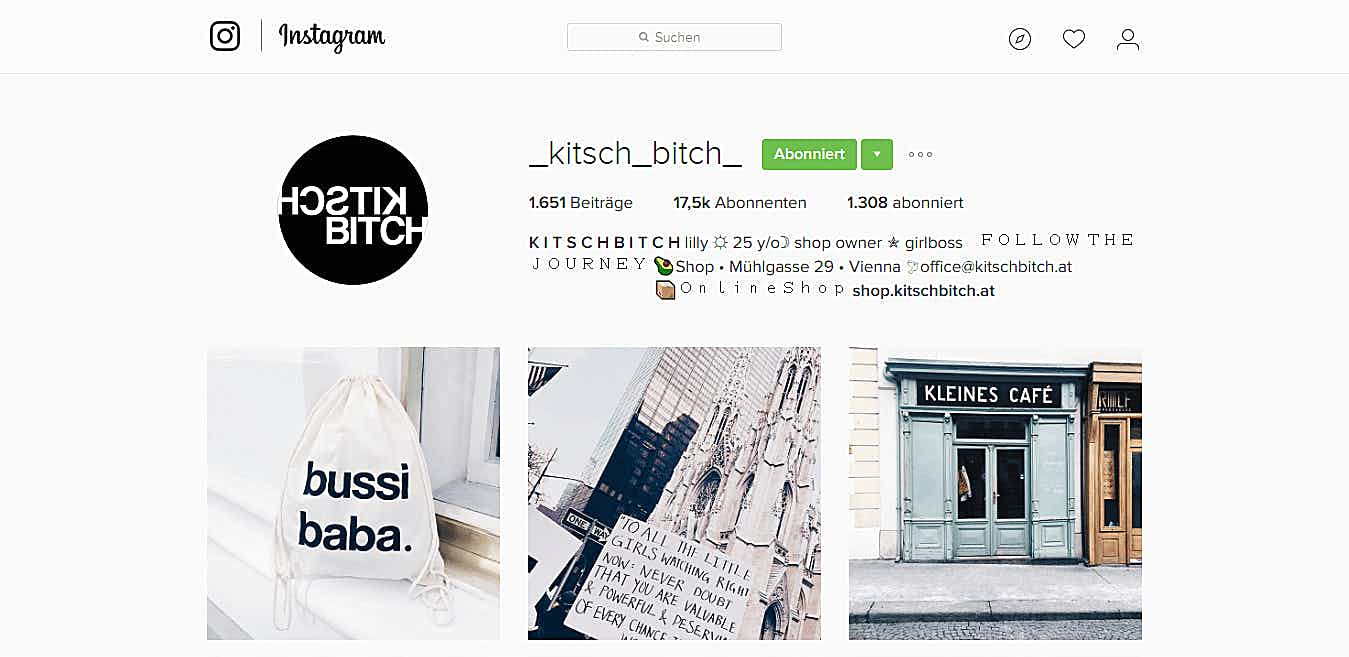 Instagram Profil KitschBitch