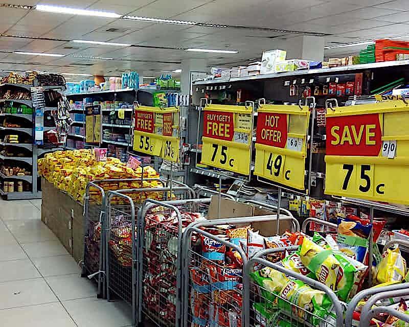 Supermarkt Rabattaktion