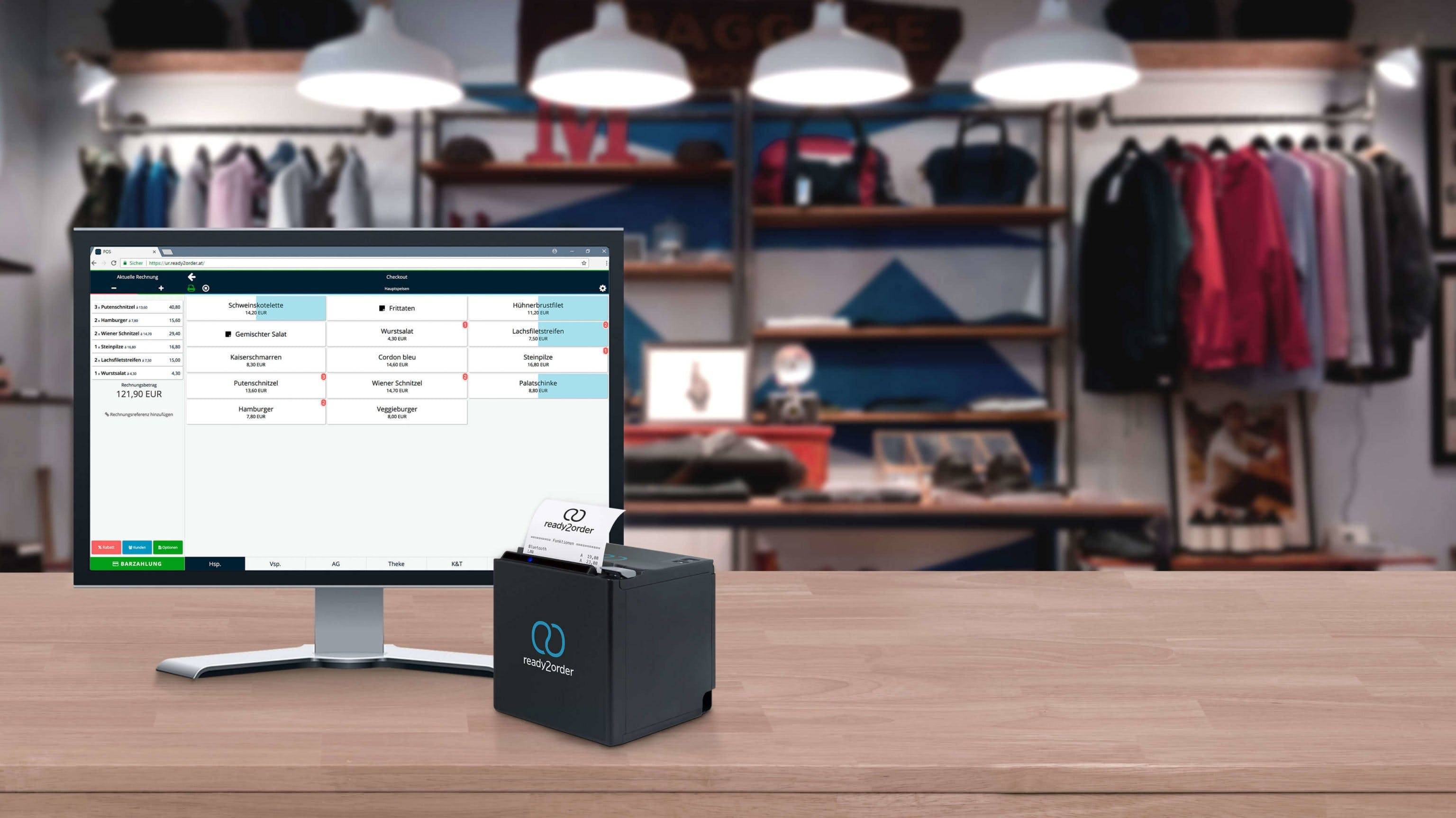 Kassensoftware und Drucker Header