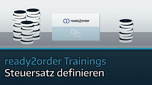 ready2order Training Steuersatz definieren