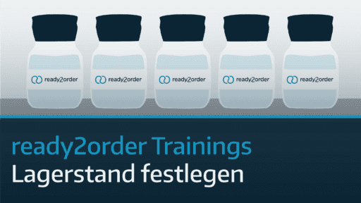 ready2order Training Lagerstand festlegen