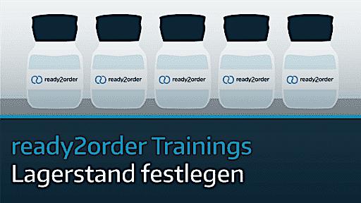 ready2order Training Lagerstand festlegen