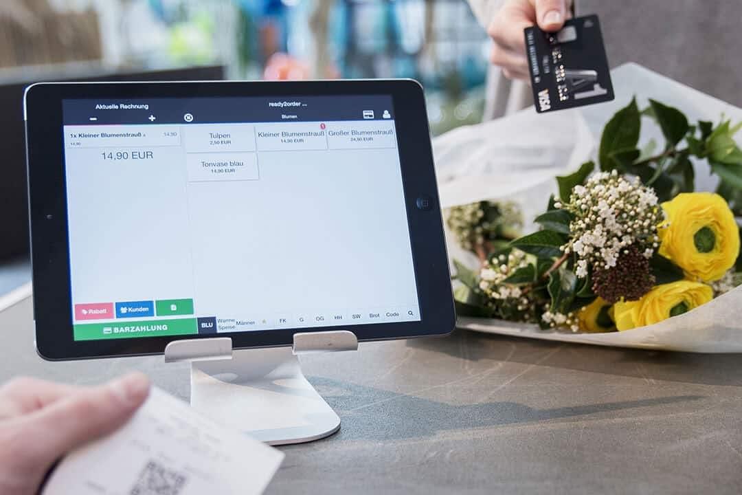 iPad Kassensystem im Blumenladen