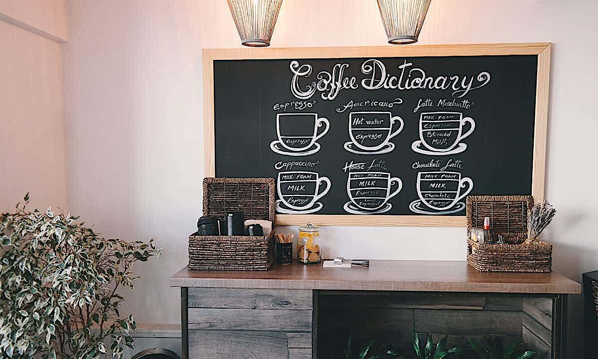 Inneneinrichtung in Café