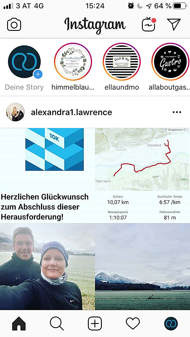 Instagram App Inhalt