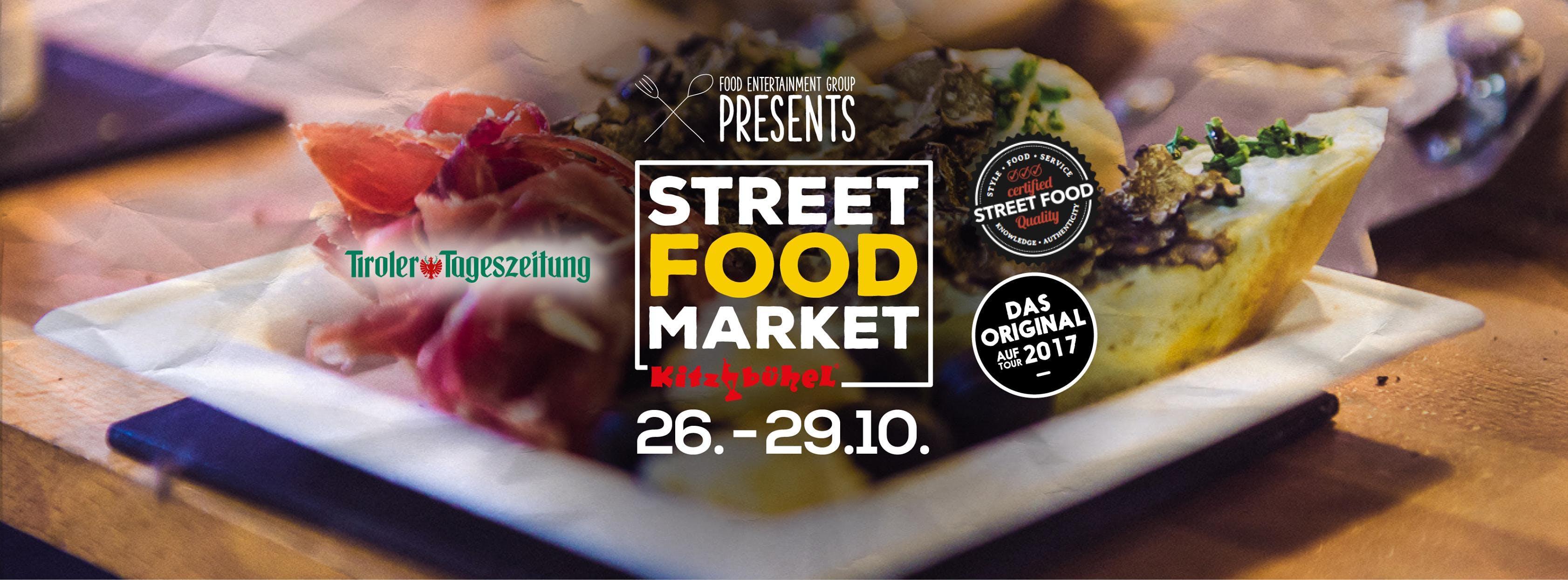 street food market Banner