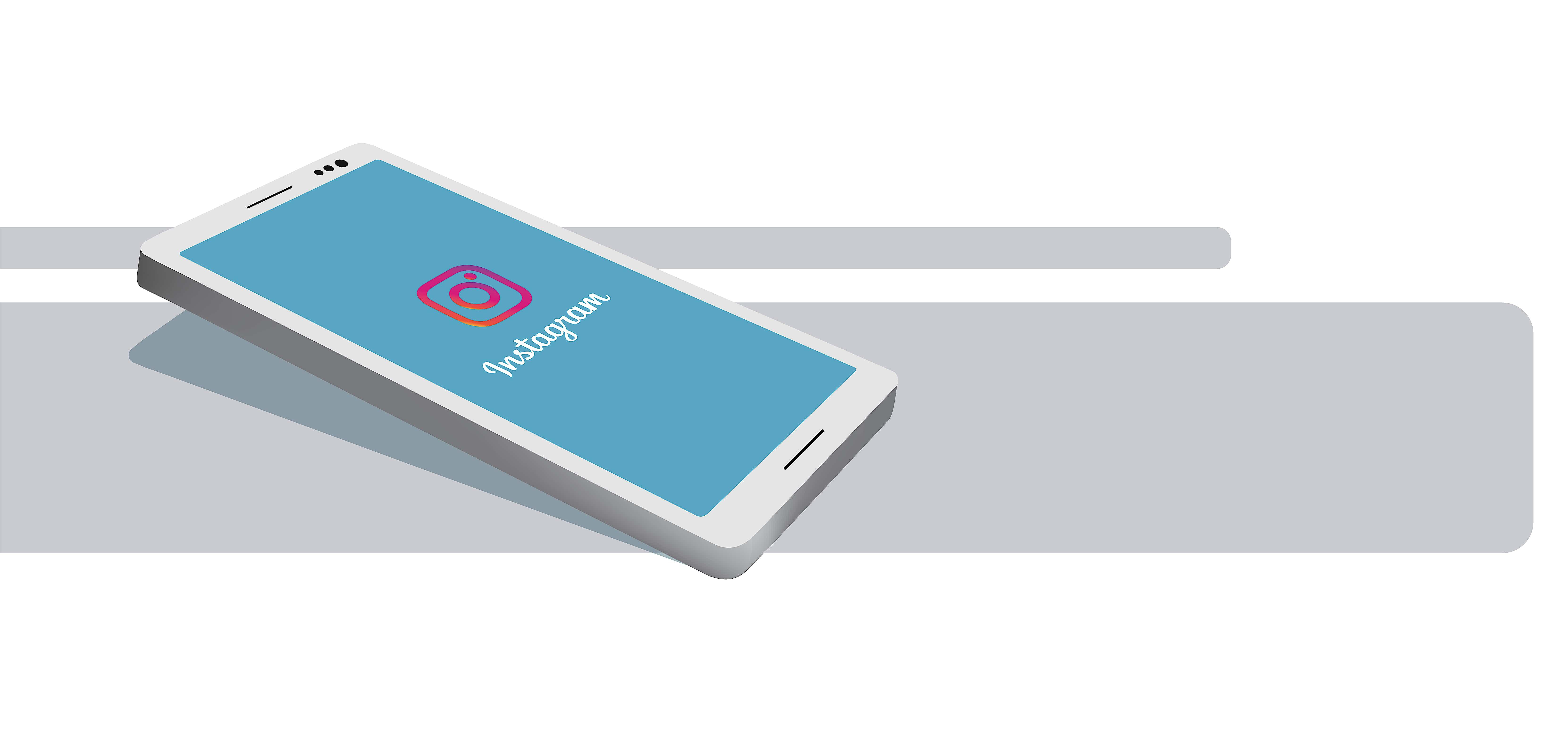 smartphone-liegend-instagram-logo