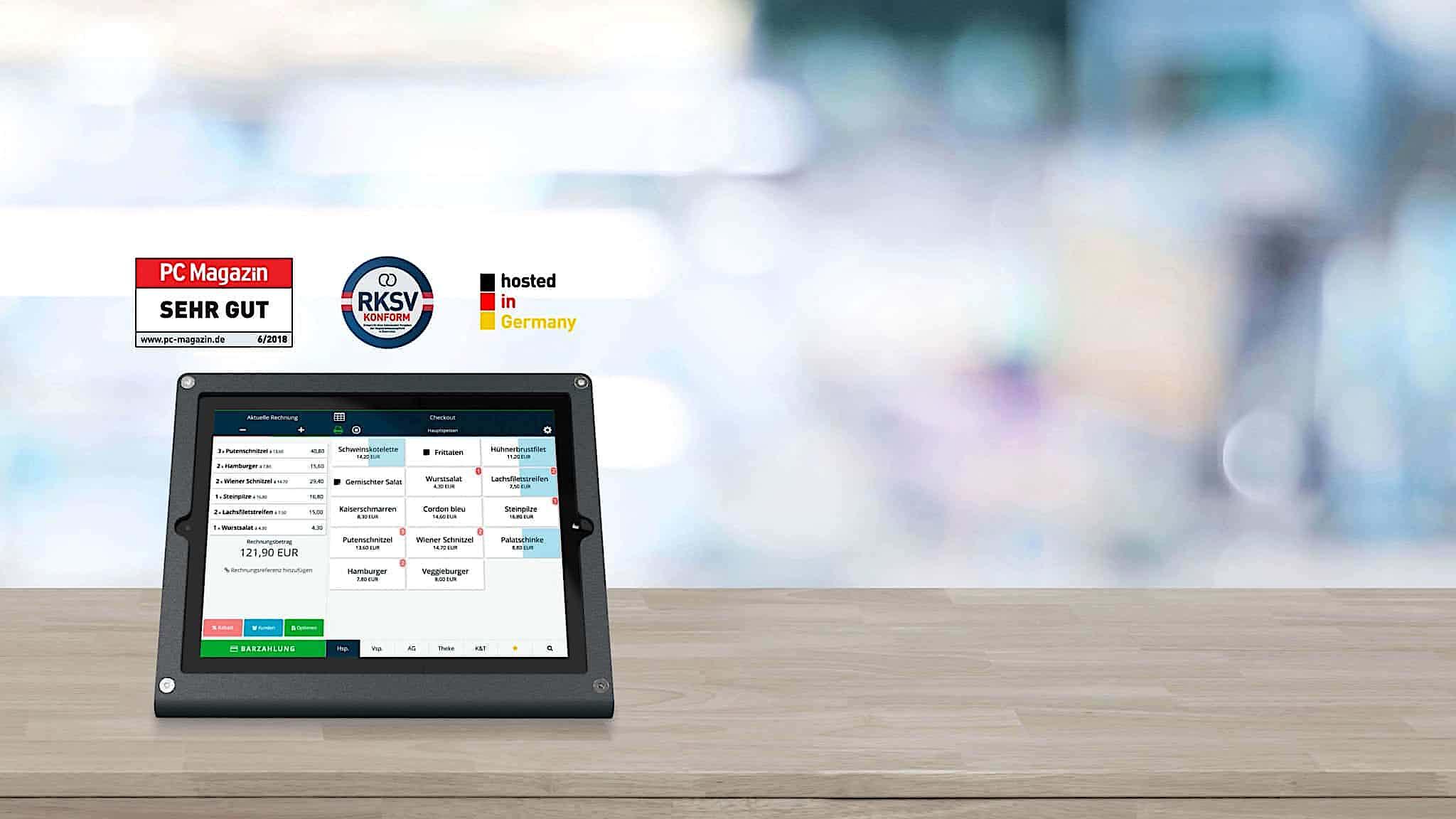 Registrierkasse für iPad und Tablet