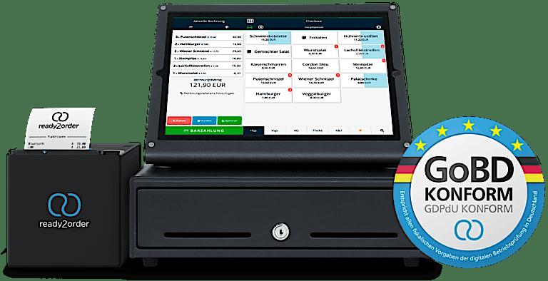 GoBD konforme Registerkasse mit Bondrucker