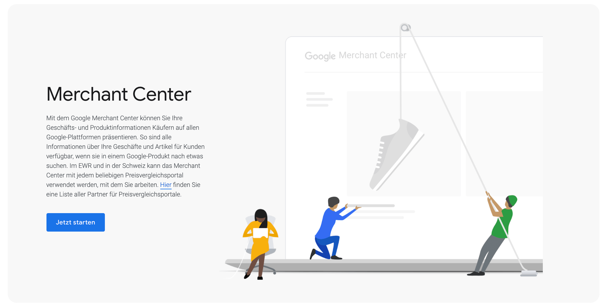 Google Merchant Center Screenshot
