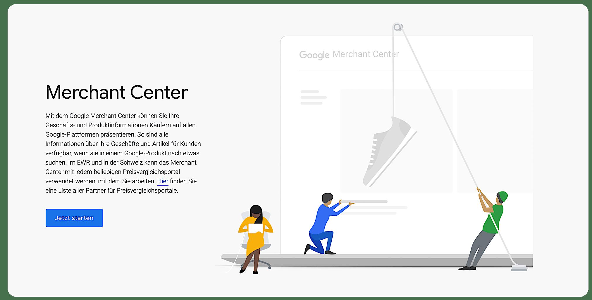 Google Merchant Center Screenshot