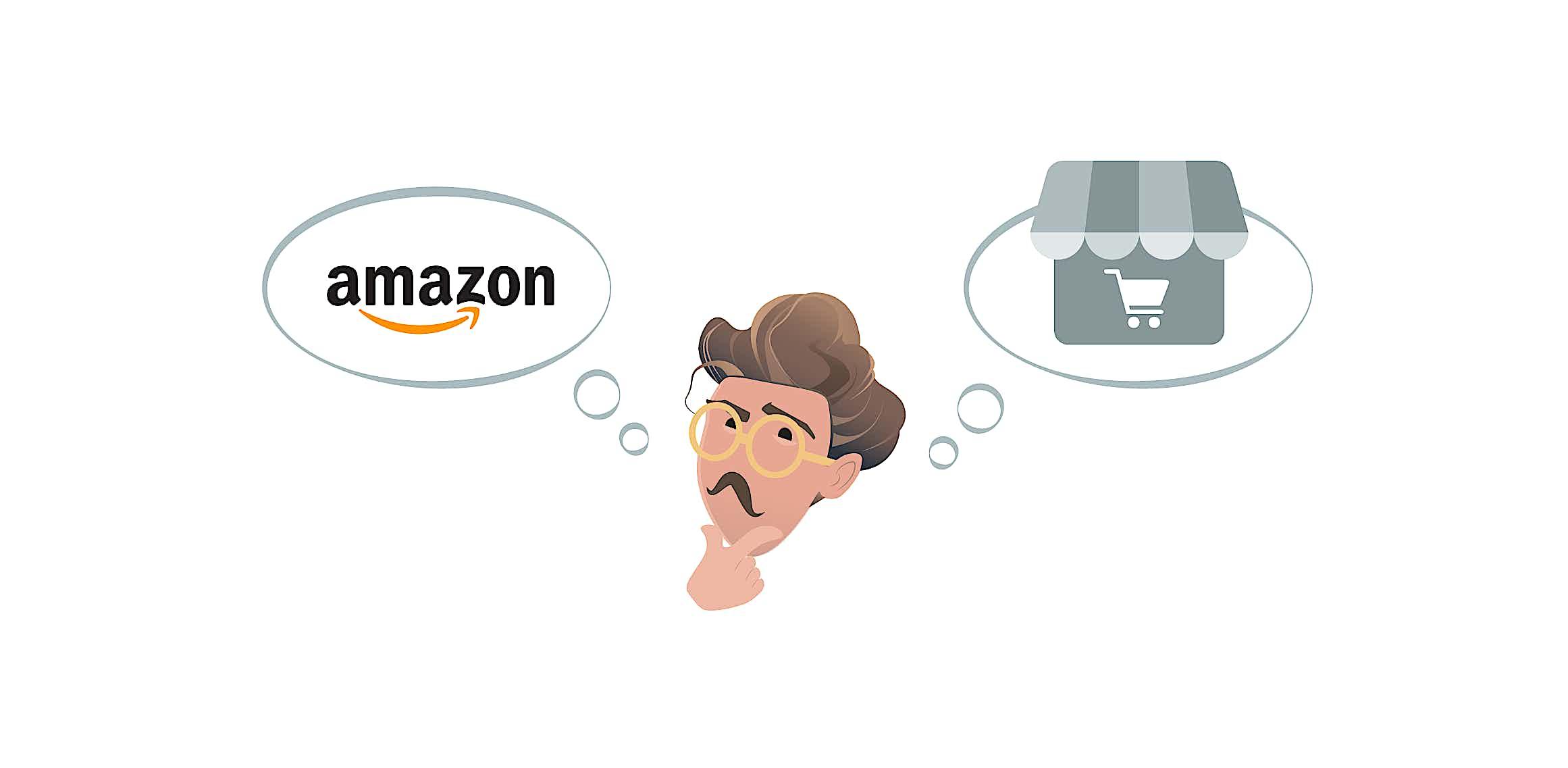Mann entscheidet sich für einen Online-Shop Grafik