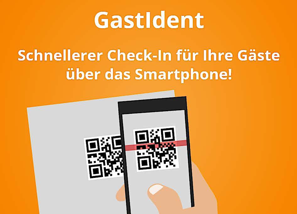QR-Code smartphone GastIdent