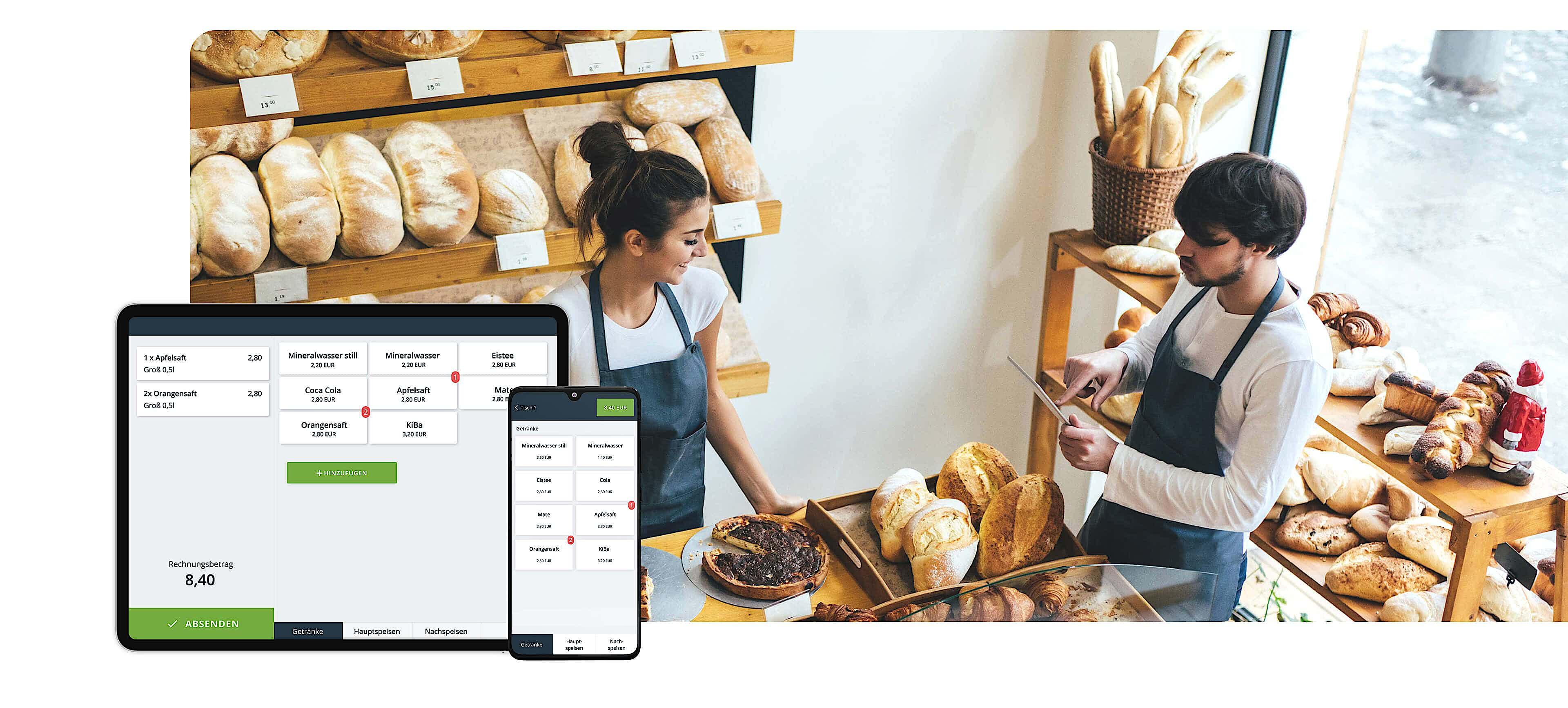 Ipad-Handy-Gerät-Software-Bäckerei