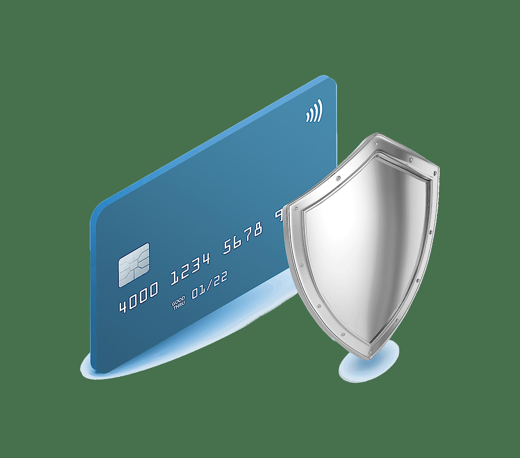 Kreditkarte und Siegel