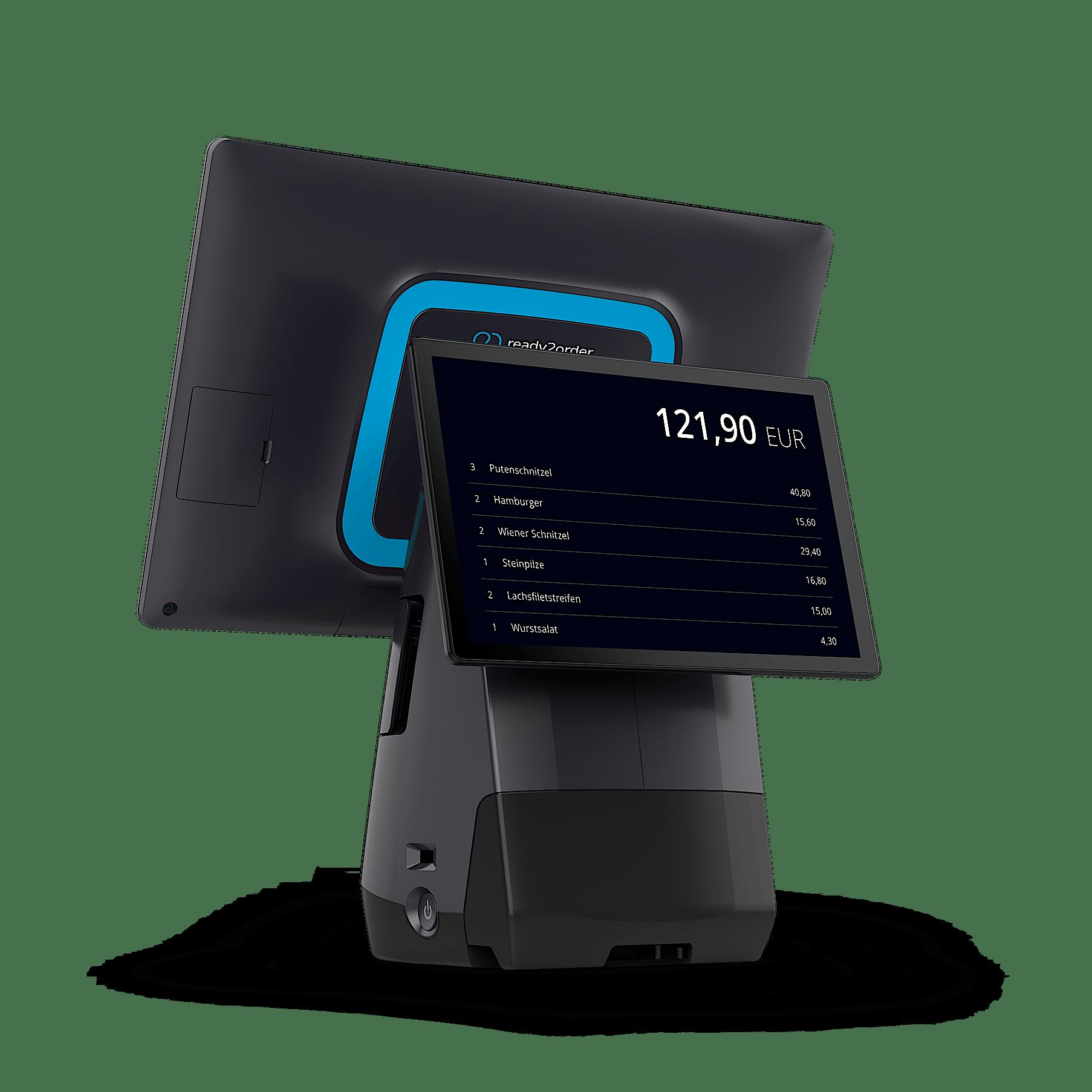 readyT2 Gerät mit Kundendisplay