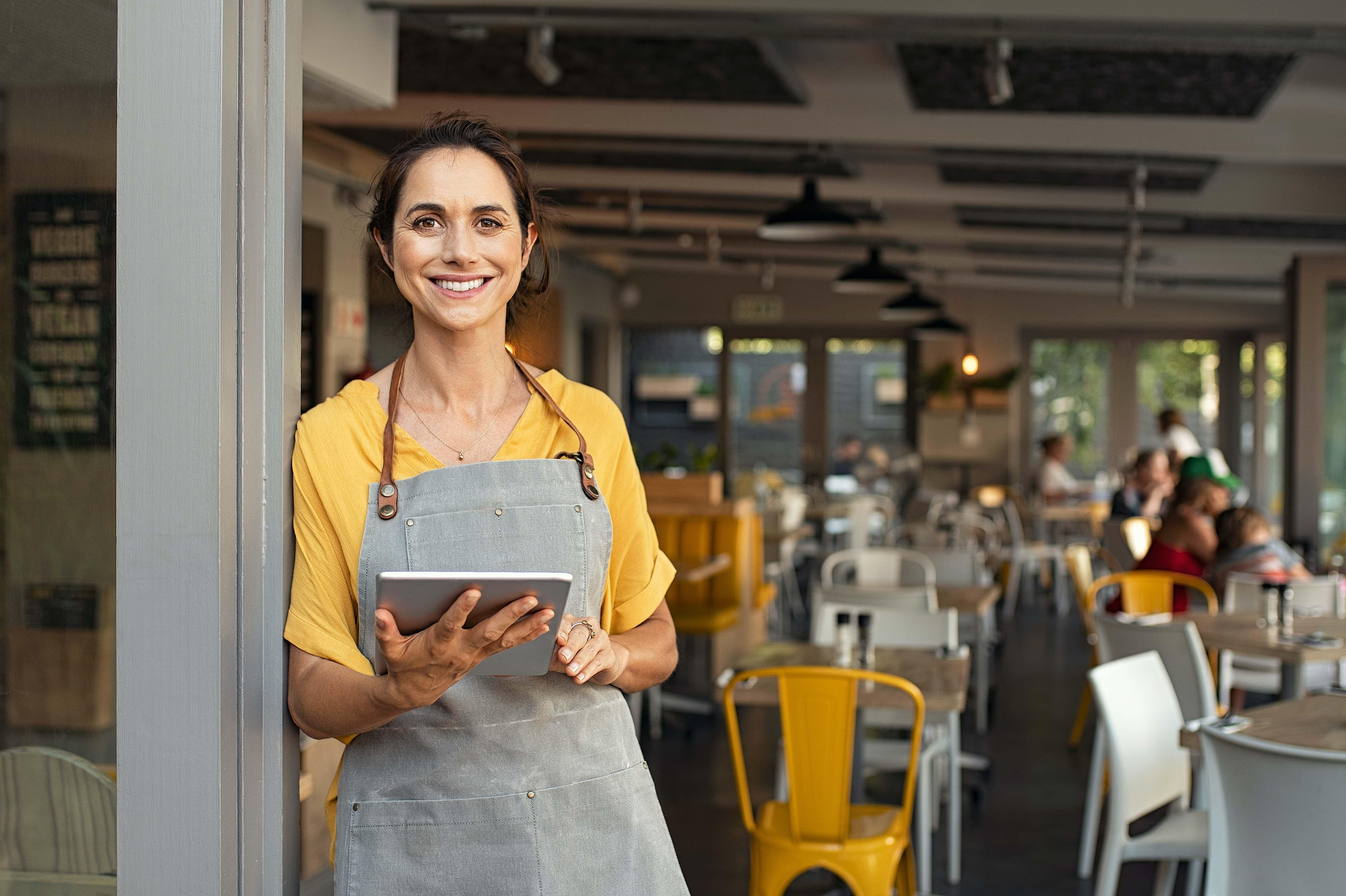 Gastronomie Kundenbedienung mit Tablet