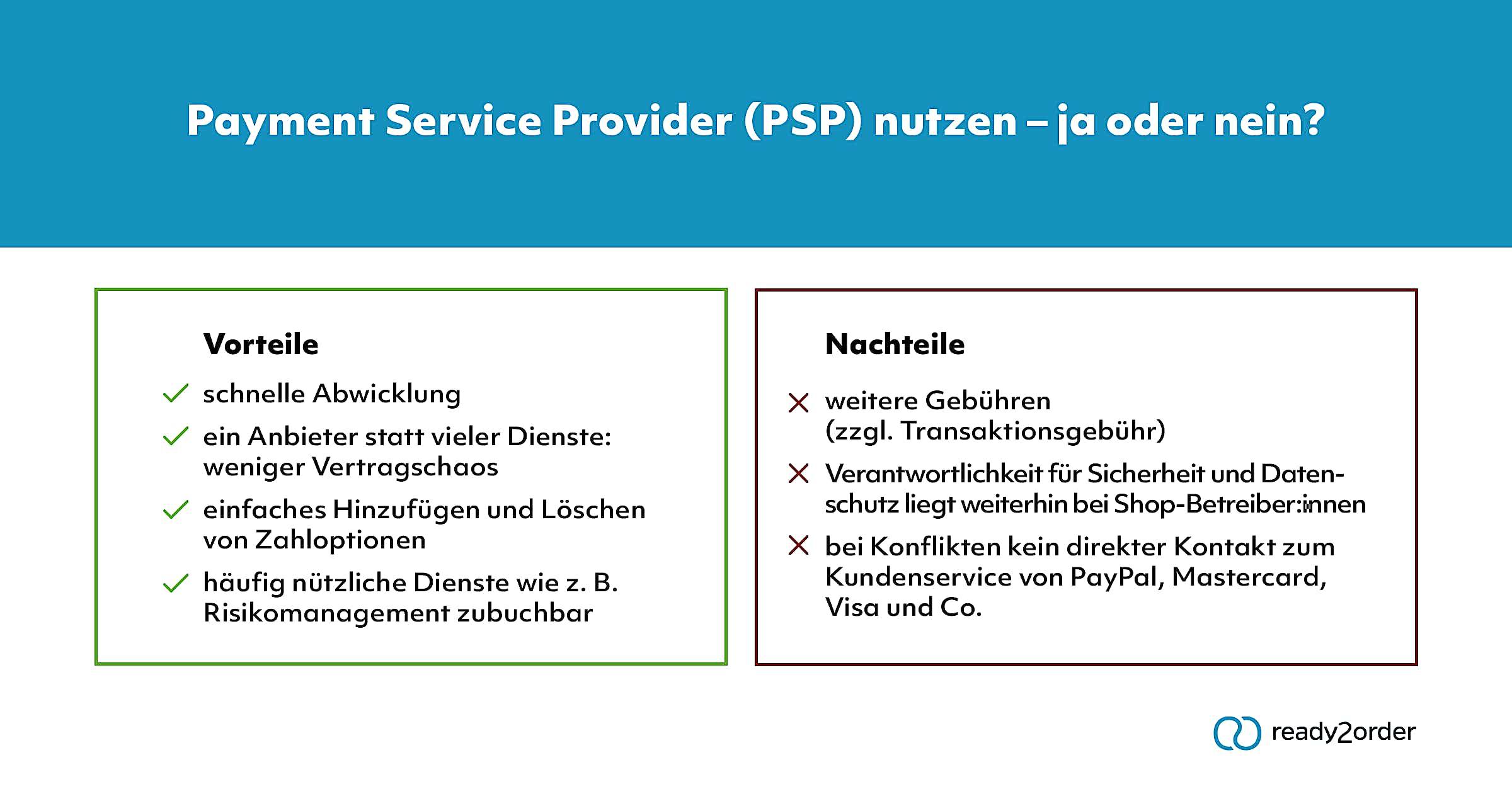 PSP Vorteile und Nachteile
