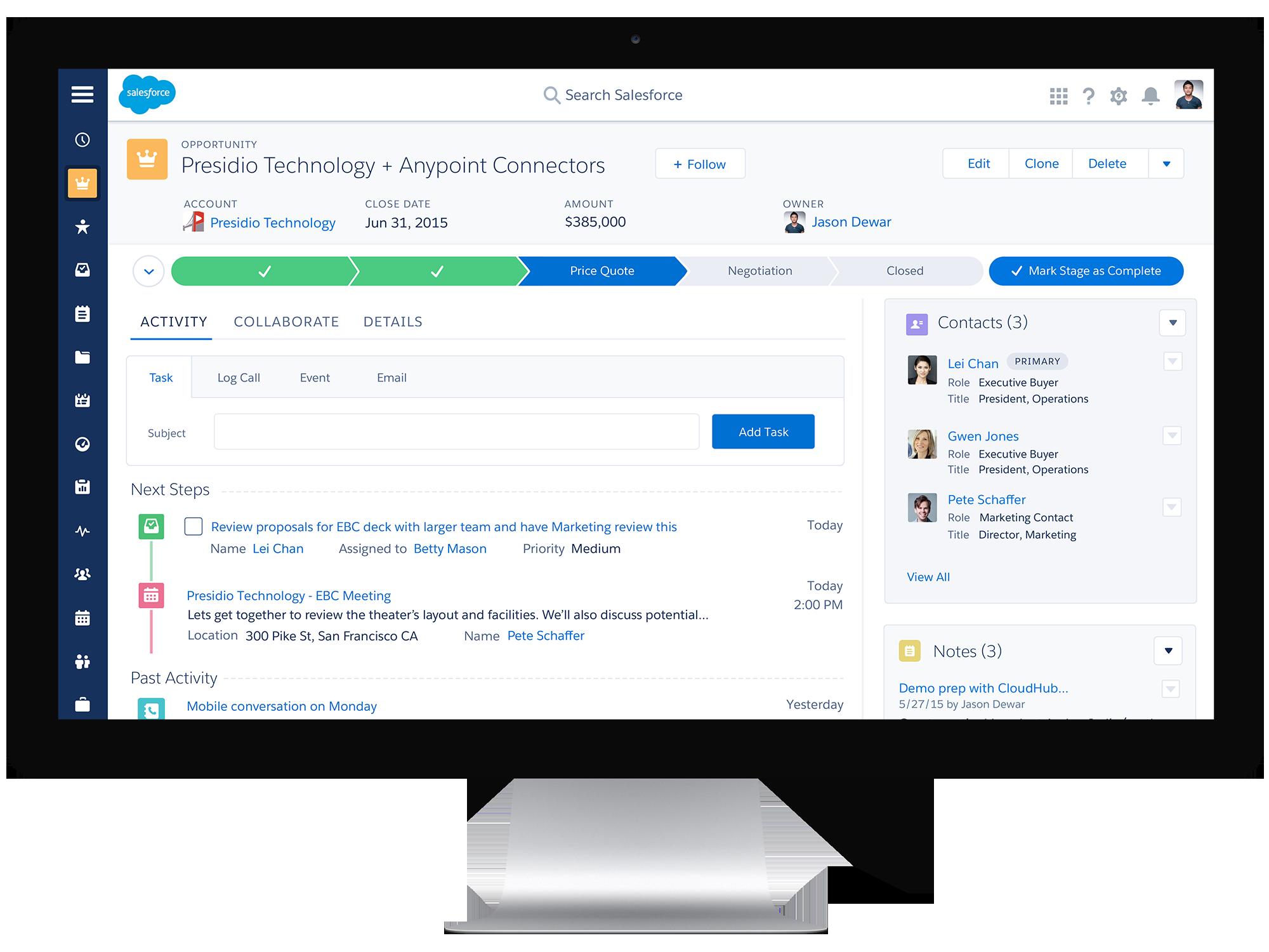 Salesforce Sales Cloud comparatif CRM