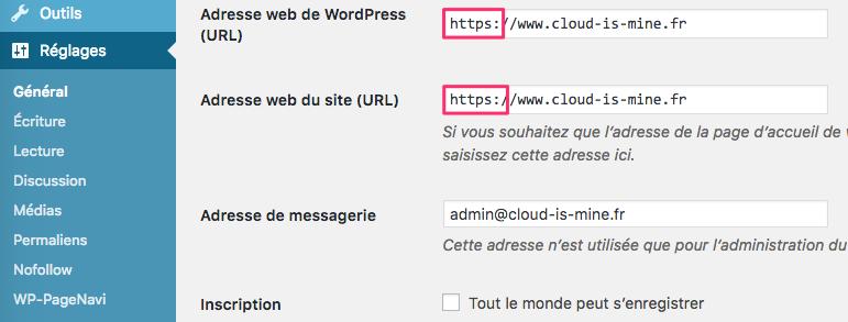 Changer l'URL d'un site Wordpress dans les réglages généraux