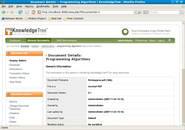 GED open source : Knowledge Tree
