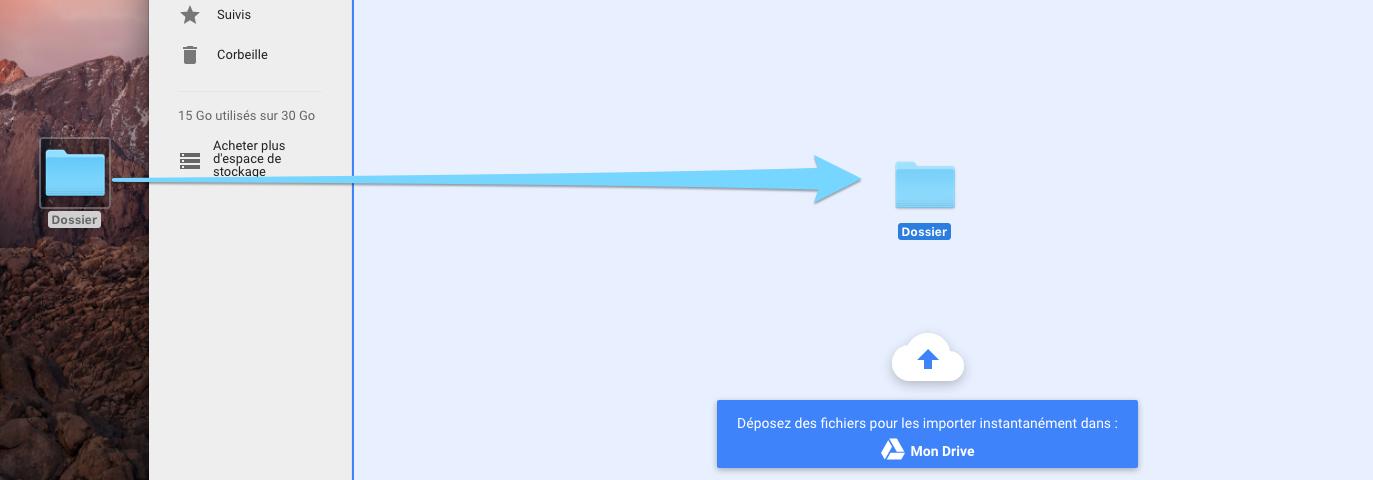 Google Drive : importer des fichiers et des dossiers