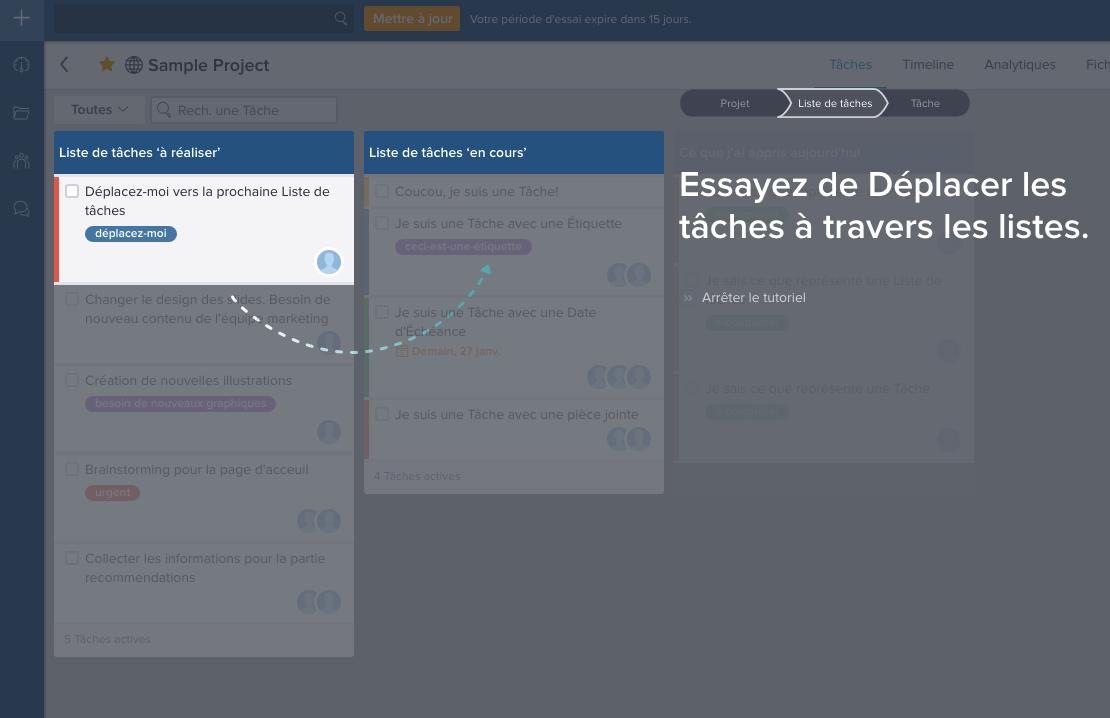 La gestion des tâches est visuelle avec Taskworld