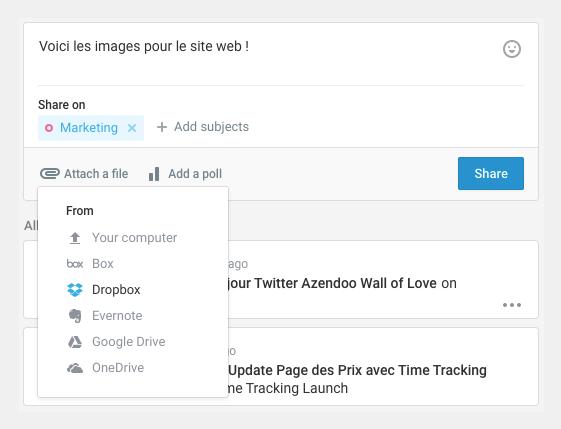 Le partage de documents avec des outils de travail collaboratif