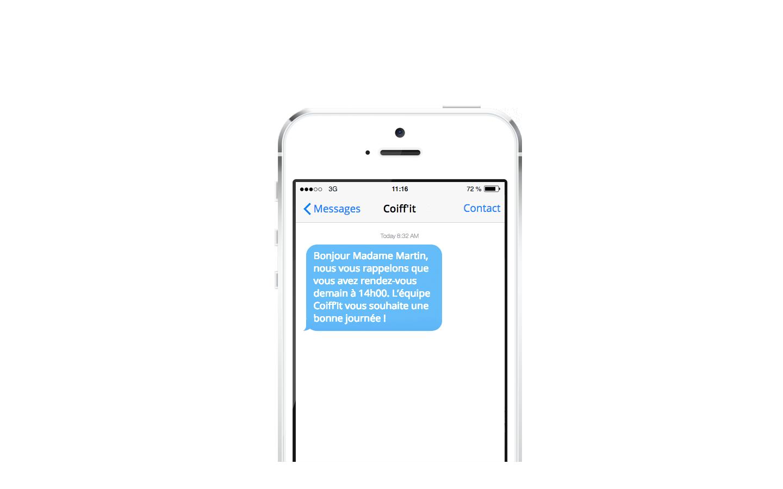 Exemple de SMS Push: le sms de confirmation