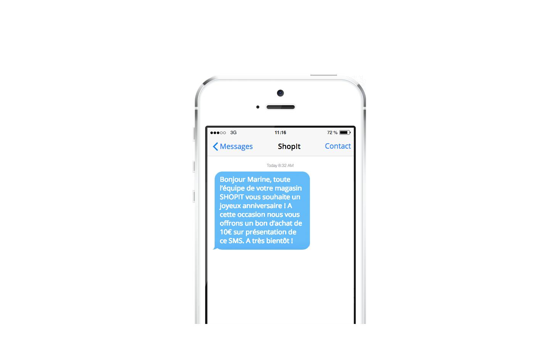 Exemple de SMS automatique: l'anniversaire