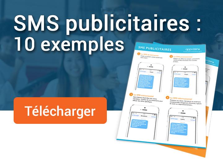 Télécharger gratuitement 10 exemples de SMS publicitaires illustrés
