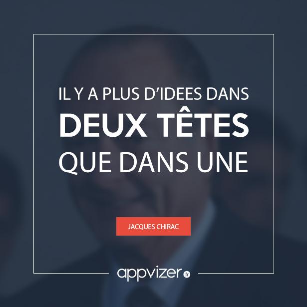 Une citation de Jacques Chirac pour favoriser l'échange et la coopération