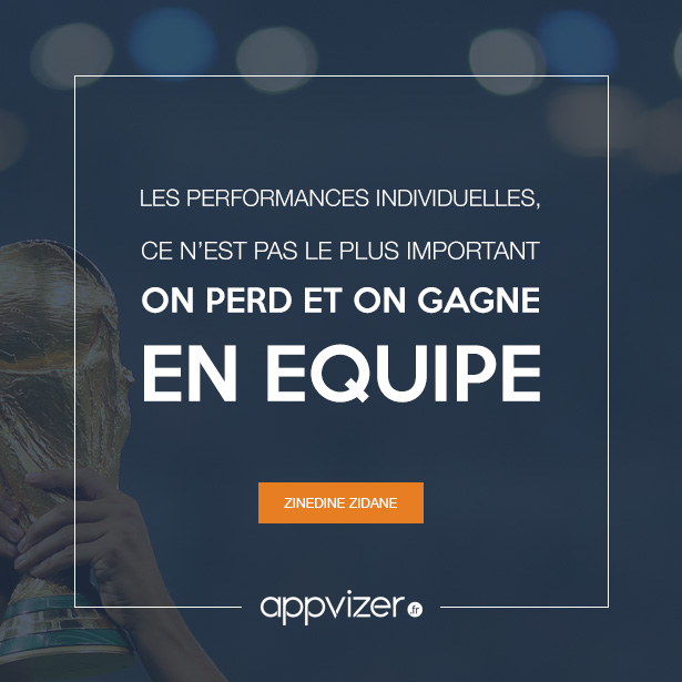 Cette citation de Zinedine Zidane est presque un proverbe sur le travail en équipe