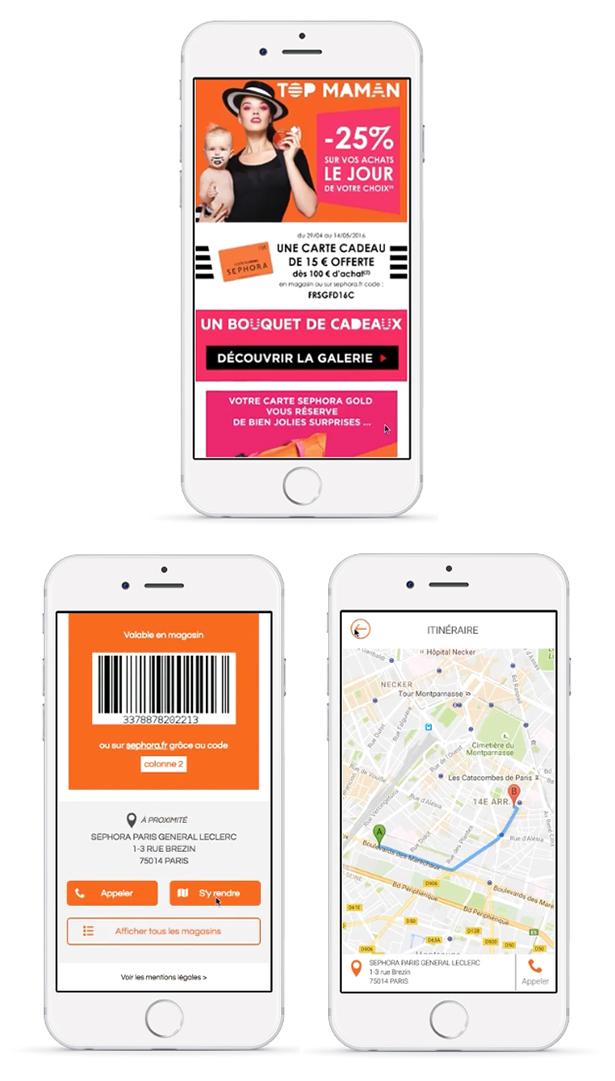 Exemple de Rich SMS pour générer du trafic en magasin