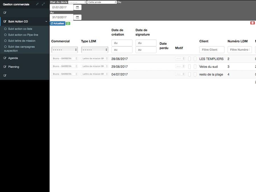 Interface du logiciel PGI ERP Queoval Expert Comptable