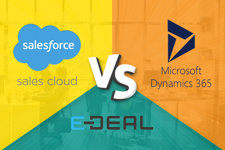 Microsoft Dynamics CRM versus Sales Cloud versus E-DEAL