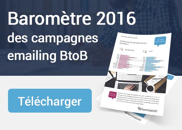 Télécharger le baromètre des campagnes emailing BtoB