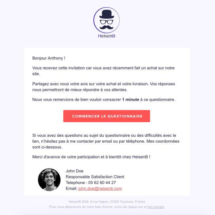 Exemple pour créer un questionnaire de satisfaction client engageant