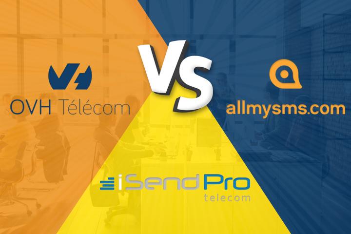 Envoyer des sms: OVH SMS vs AllMySMS vs iSendPro