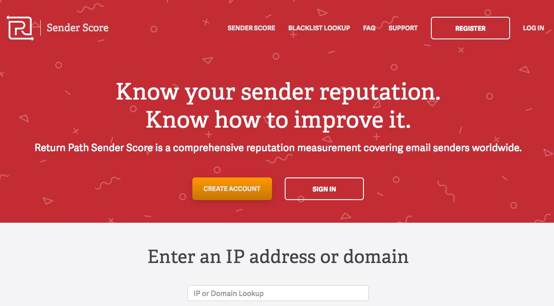 Sender Score de Return Path pour tester sa délivrabilité email