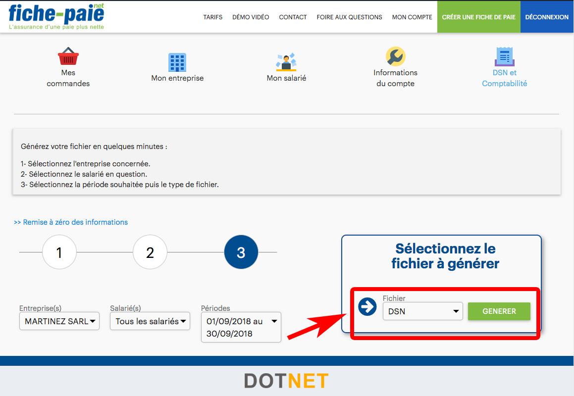 Logiciel de paie DSN : Fiche-Paie.net