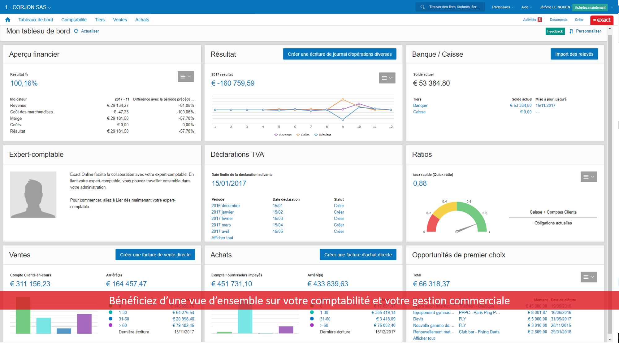 Exact Online logiciel comptable