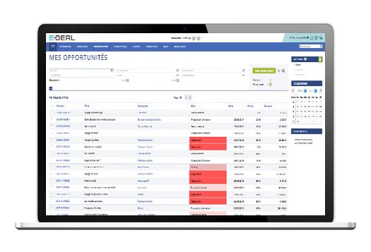 E-deal CRM dashboard