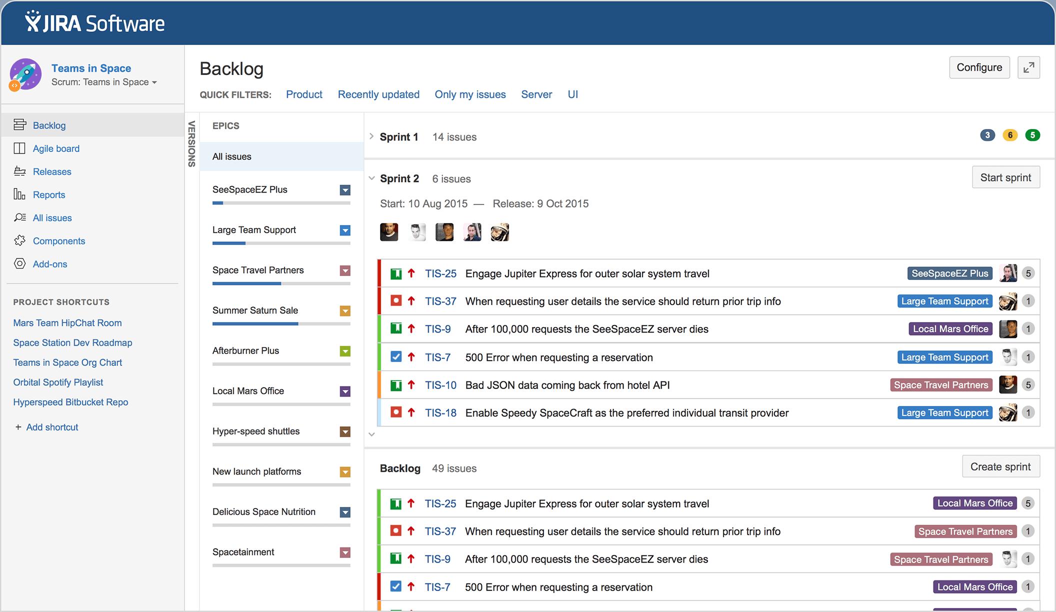 outils de pilotage de projet : visuel Jira