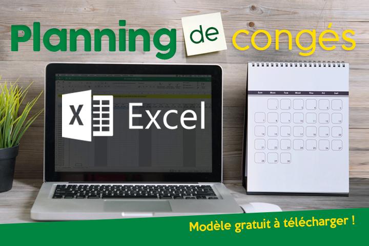 Créer son planning de congés avec Excel