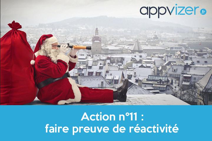 Action n°11 : faire preuve de réactivité