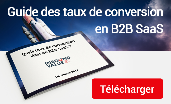 télécharger le guide des taux de conversion en B2B SaaS